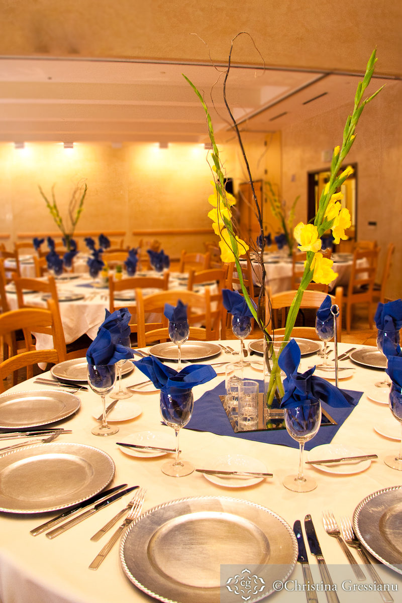 Blue And Yellow Bathroom Decor: Happy Blue And Yellow Wedding Details