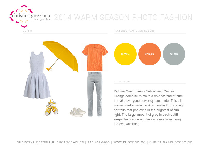 what to wear in orange, yellow and gray